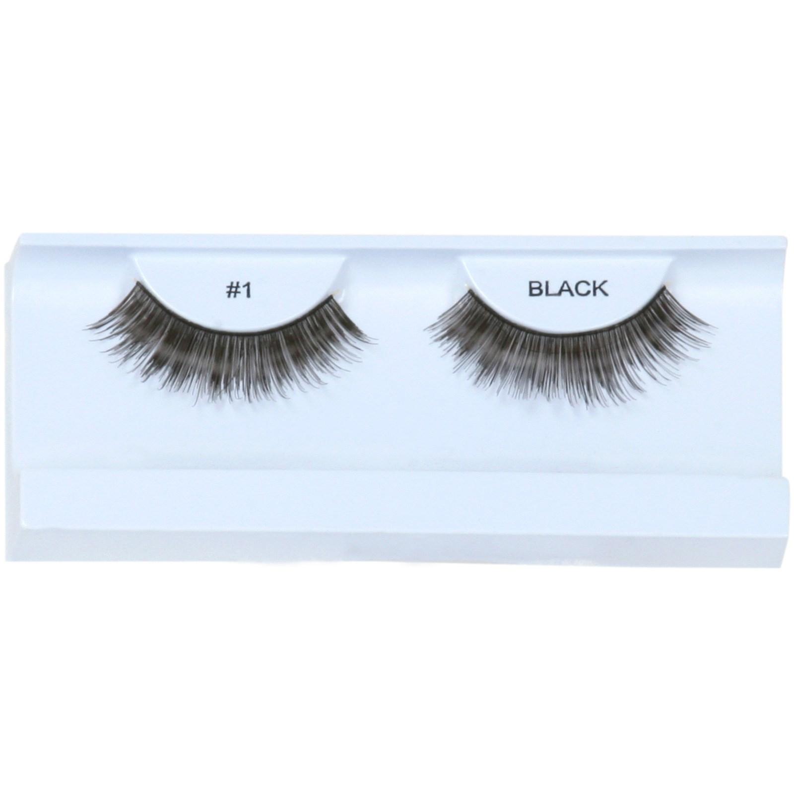 Image of Black Eyelashes with Case