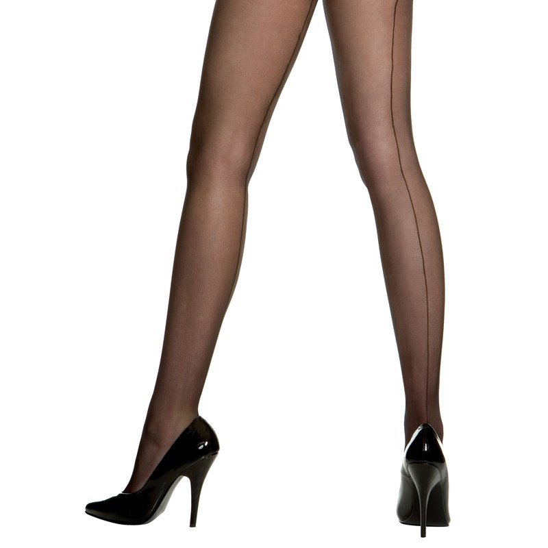 Sheer Backseam Pantyhose (Black)   Adult for the 2015 Costume season.