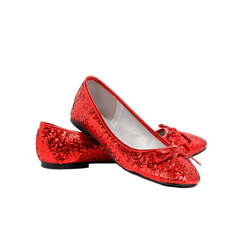 Red Glitter Star Flat Adult Shoes for the 2015 Costume season.