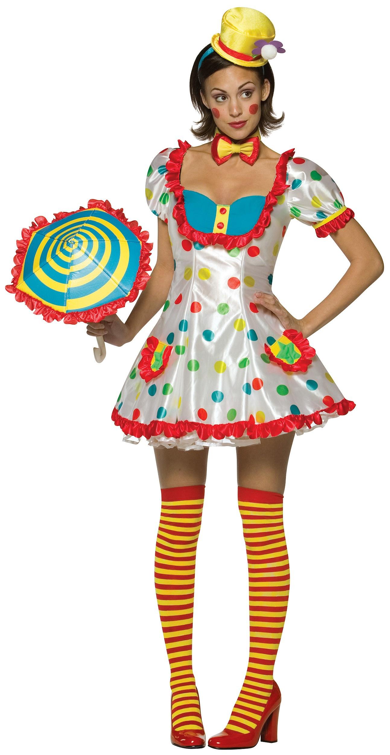 Clown Female Adult Costume
