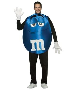 M&Ms Blue Poncho Adult Costume