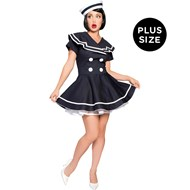 Pin-up Captain Adult Plus Costume