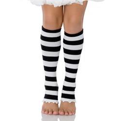 Striped (Black/White) Child Leg Warmers