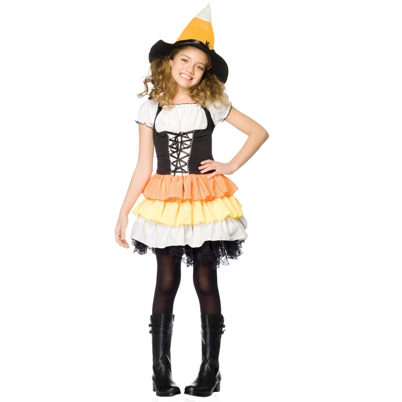 Kandy Korn Witch Child Costume for the 2015 Costume season.