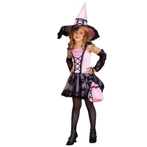 Lacy Witch with Glovelettes Child Costume