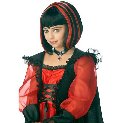 Vampire Girl Black/Red Wig