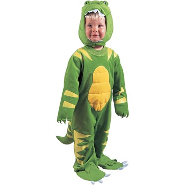 Green Lil' Dino Child Costume