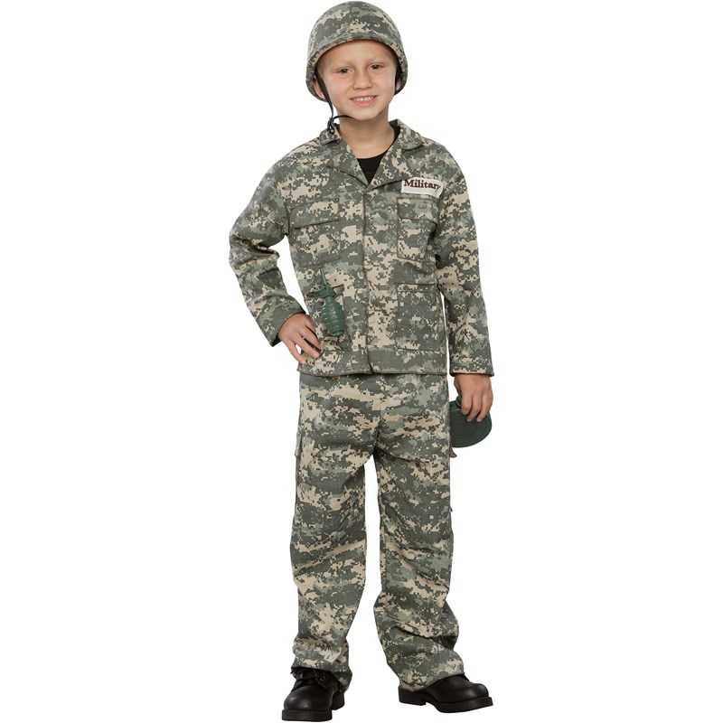Army Soldier Child Costume for the 2015 Costume season.