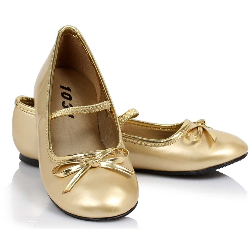 Ballet Flat (Gold) Child Shoes for the 2015 Costume season.