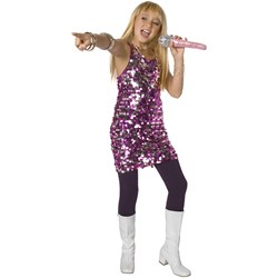 Pink Silver Sequin Child Costume
