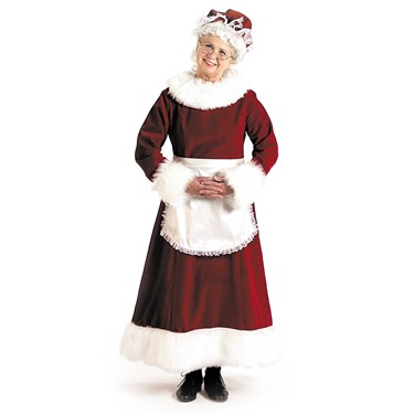 Mrs. Claus Dress Adult Costume