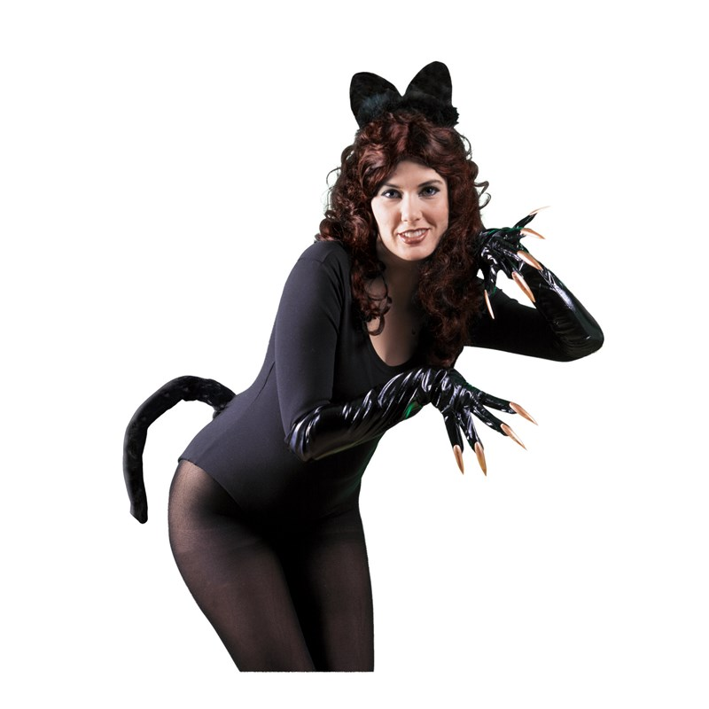 Black Cat Ears and Tail for the 2015 Costume season.