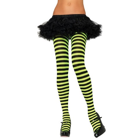 Yellow & Black Striped Adult Tights
