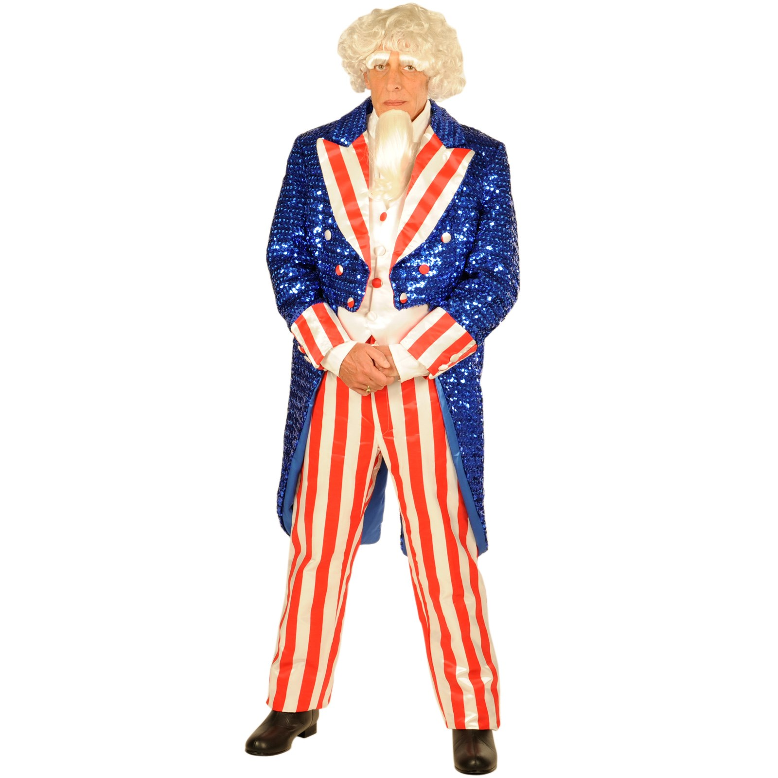Uncle Sam Sequin Large Deluxe Adult Costume Buycostumes Com