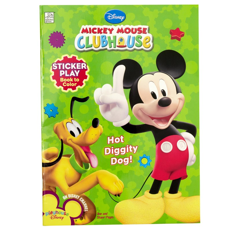 Disney Mickey Mouse Clubhouse Sticker Play Book for the 2015 Costume season.