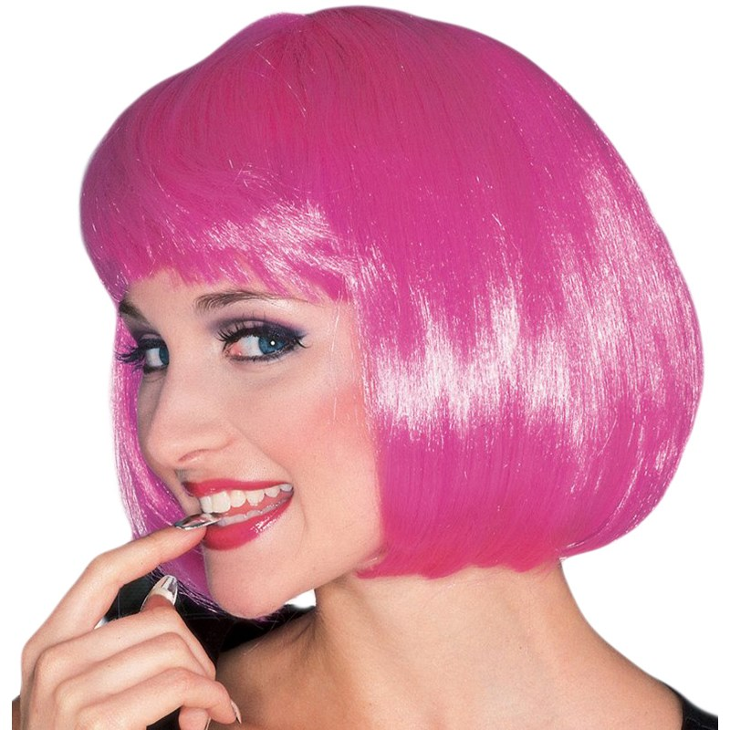 Hot Pink Super Model Wig for the 2015 Costume season.