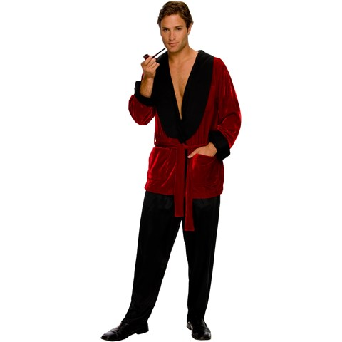 Playboy Men's Smoking Jacket Adult Costume