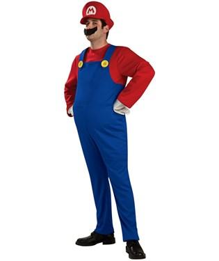 Super Mario Bros. Mario Deluxe Adult Costume
