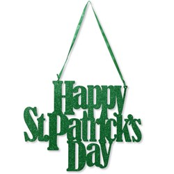 Happy St. Pat's Day Glitter Sign