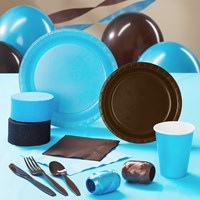 Brown Turquoise Party Supplies