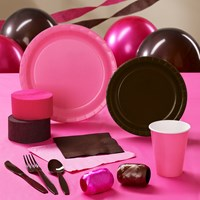 Brown Hot Pink Party Supplies