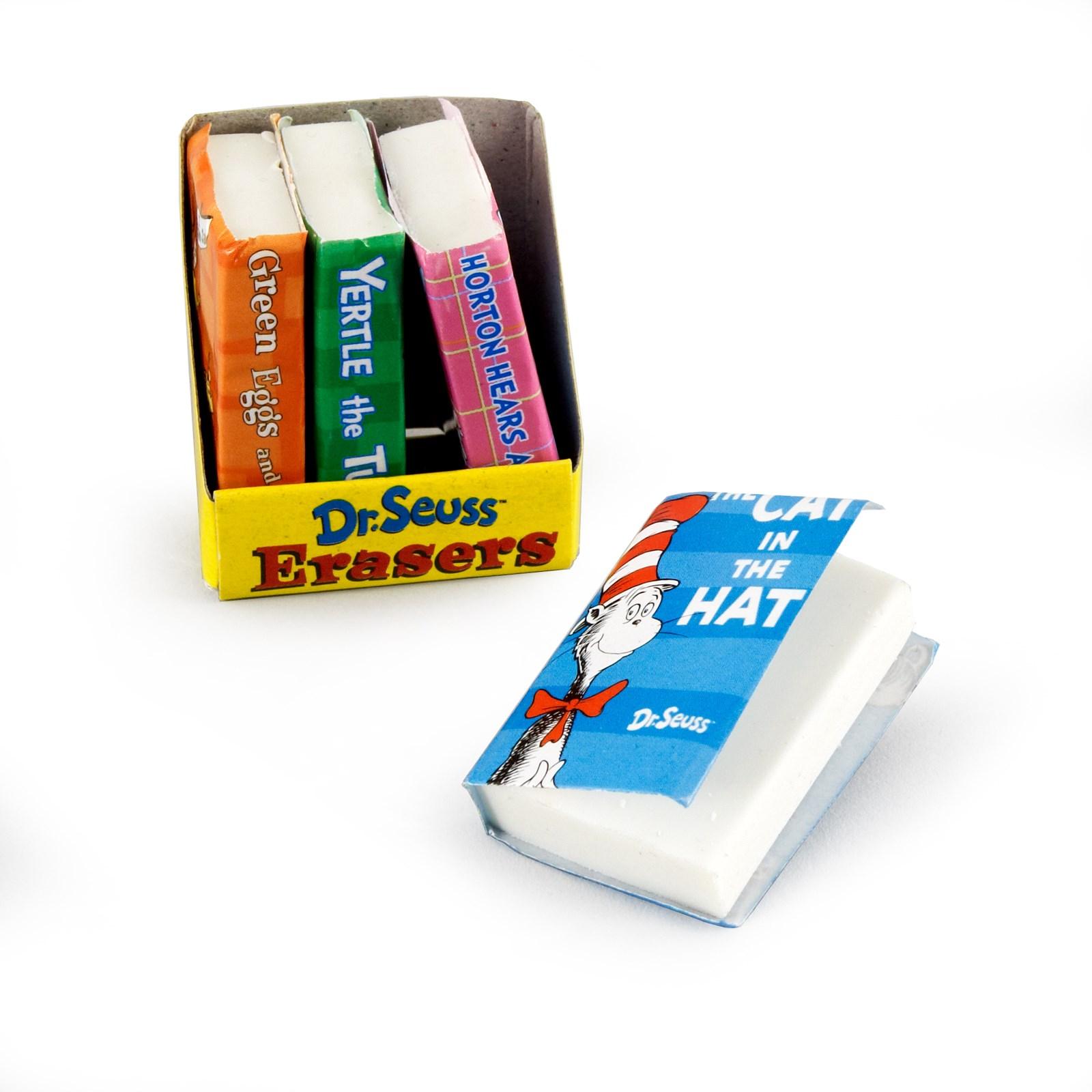 Dr. Seuss Book-Shaped Eraser Asst. 8