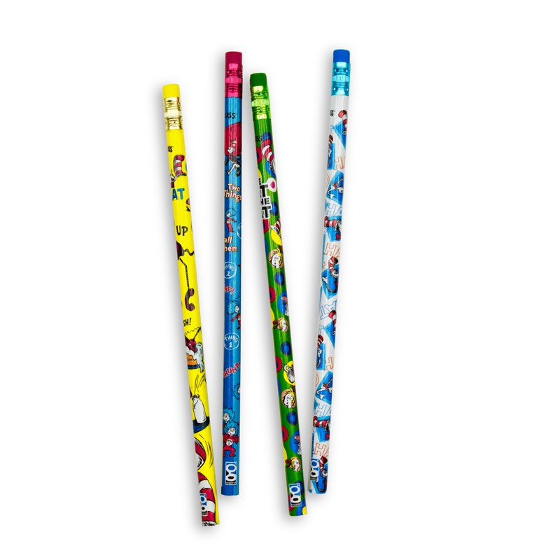 Dr. Seuss Cat In The Hat Pencils Asst. (8 count) for the 2015 Costume season.
