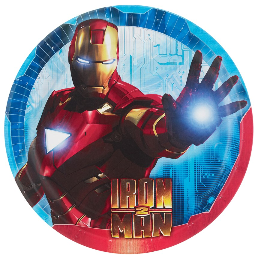 Iron Man 2 Dinner Plates (8 count)   Costumes, 66749