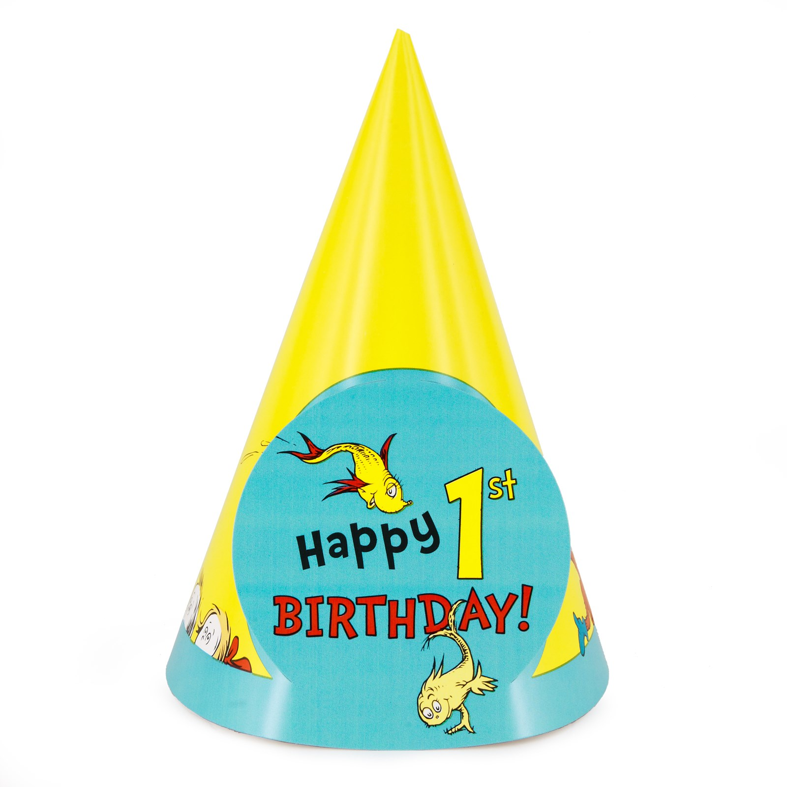 Dr. Seuss 1st Birthday Cone Hats 8 count