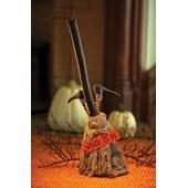 Dancing Halloween Broom Animated Prop