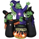 Airblown Animated 3 Witches with Caldron