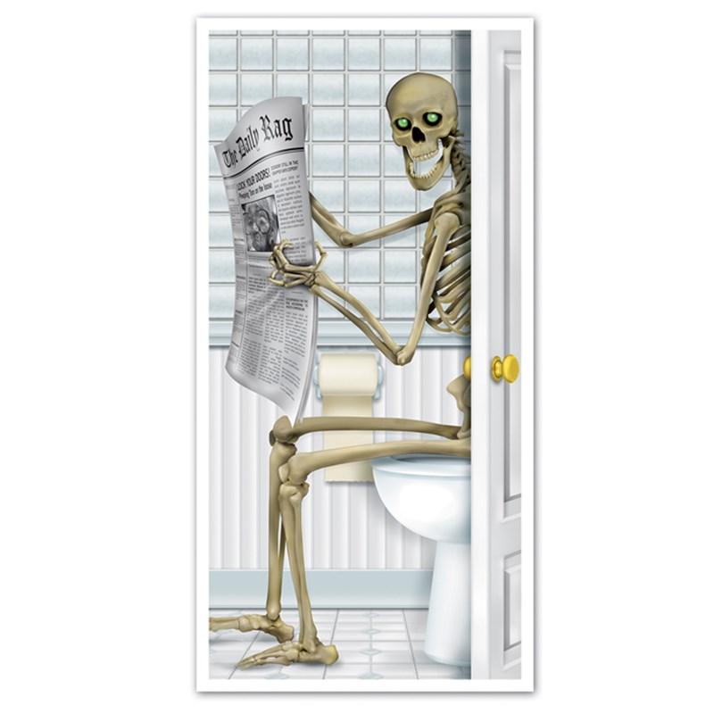Skeleton Restroom Door Cover for the 2015 Costume season.