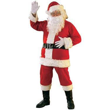 Economy Flannel Santa Suit Adult Costume