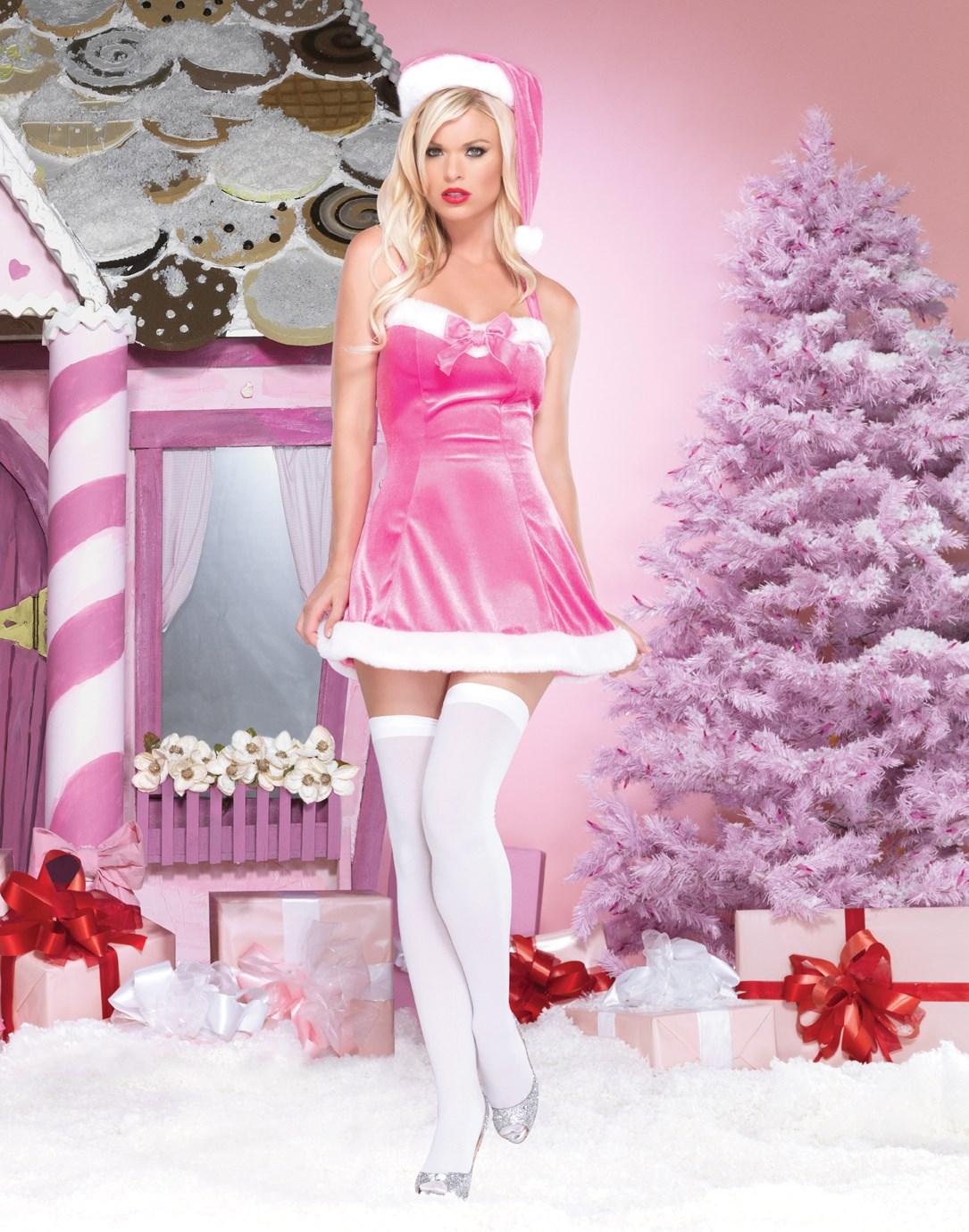 Tinsel Tease Pink Adult Costume