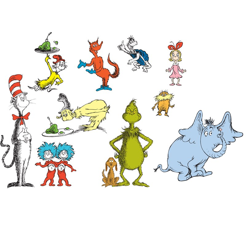 Dr. Seuss Removable Wall Decorations for the 2015 Costume season.