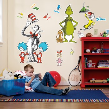 Dr. Seuss Giant Wall Decals Ratings & Reviews   BuyCostumes