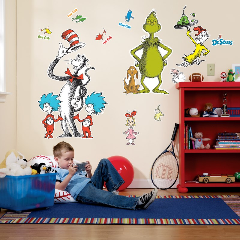 Dr. Seuss Giant Wall Decals for the 2015 Costume season.