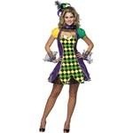 Mardi Gras Jester Woman Adult Costume