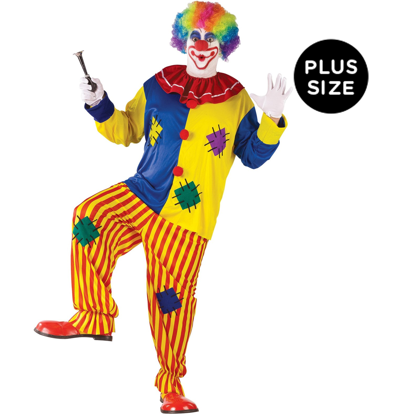 Image of Big Top Clown Adult Plus Costume