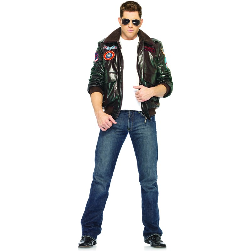 Top Gun Bomber Jacket Adult Costume (Male) for the 2015 Costume season.