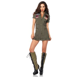 Top Gun Woman's Flight Suit Costume