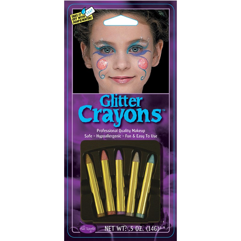 Glitter Makeup Crayons for the 2015 Costume season.