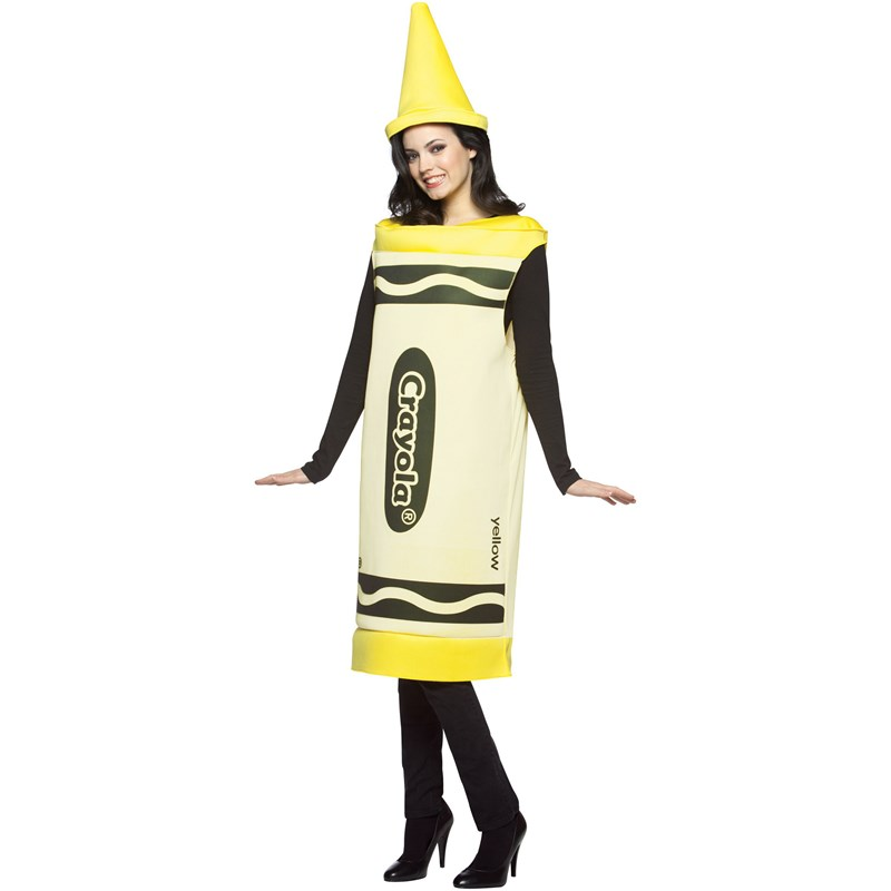 Crayola Yellow Crayon Adult Costume for the 2015 Costume season.