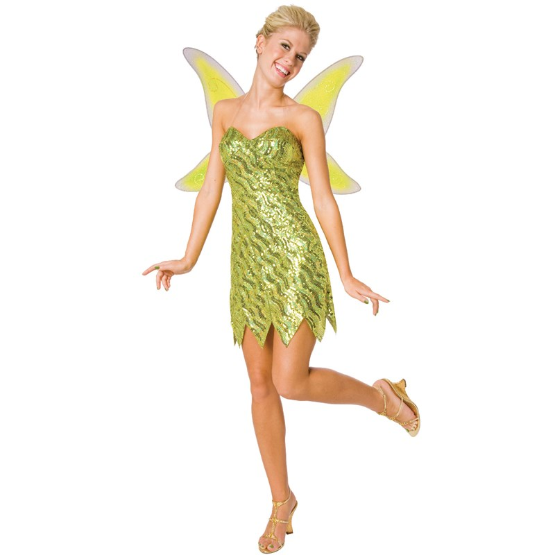 Sequin Deluxe Tinker Bell Adult Costume for the 2015 Costume season.