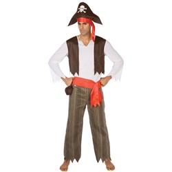 Palamon Adult Pirate Swashbuckler Adult Costume- Black: