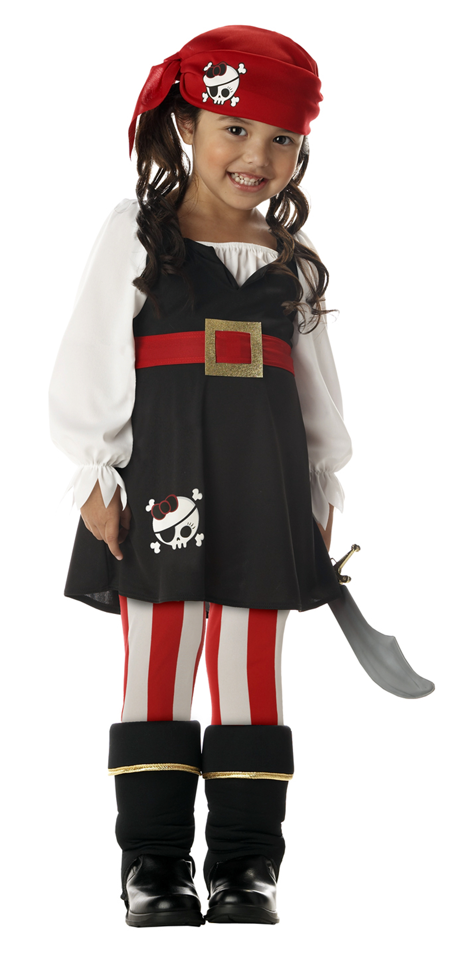 Precious Lilu0027 Pirate Toddler / Child Costume  sc 1 st  Rookie Moms & How to turn your child into a pirate: Halloween costume idea #297 ...