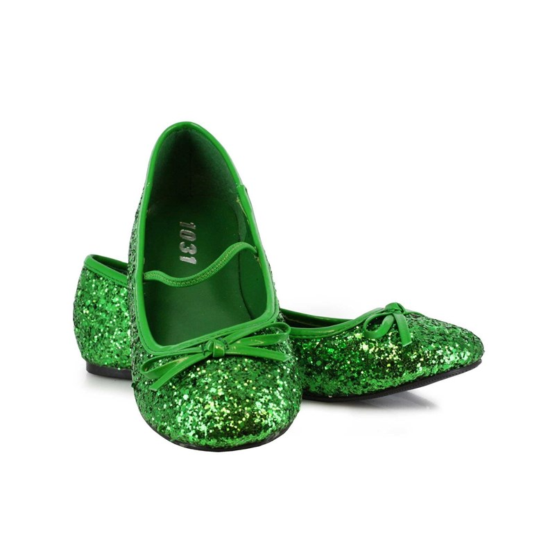 Green Sparkle Flat Shoes Child for the 2015 Costume season.