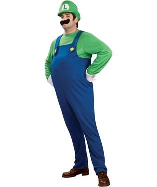 Super Mario Bros. - Deluxe Luigi Adult Plus Costume