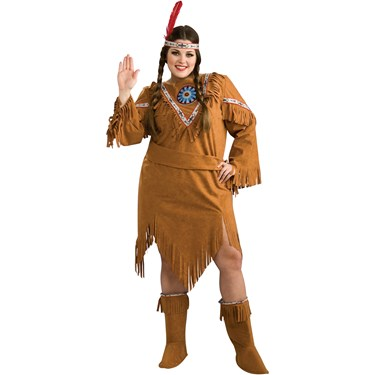 Native American Girl Plus Adult Costume