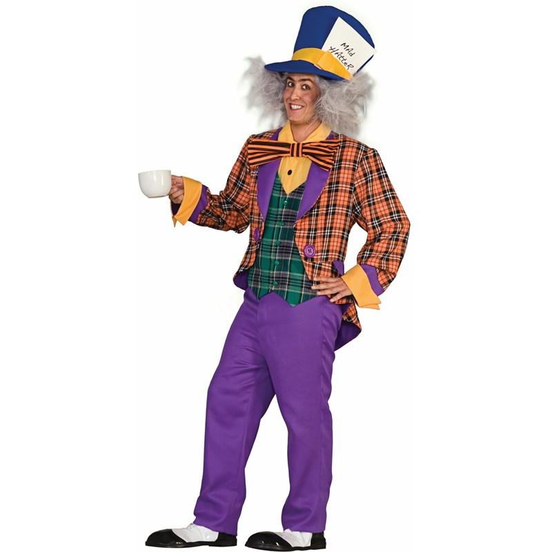 Plaid Mad Hatter Adult Costume for the 2015 Costume season.